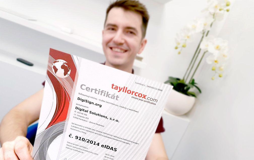 Ziskali certifikat 1
