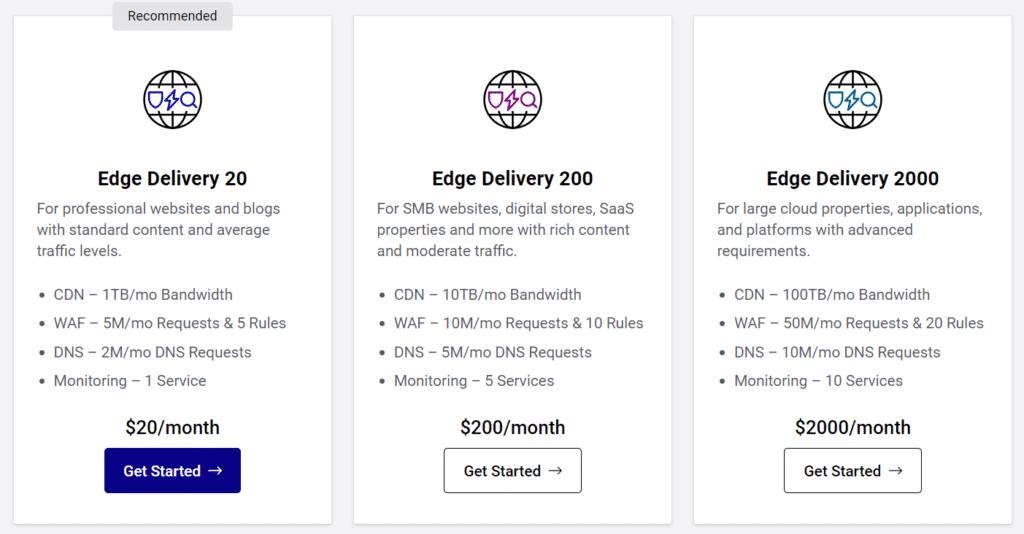 StackPath pricing