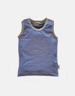 1 Unterhemd + 2 Unterhosen (Mädchen) blau meliert