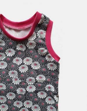 Unterhose (Mädchen) grau mit Blume