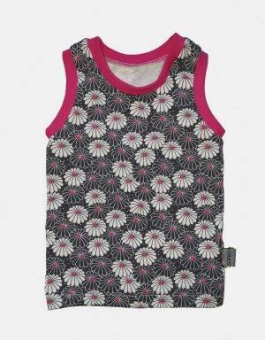 Unterhemd grau mit Blume