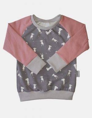 Langarm-Shirt + Pumphose (Baggy-Style) mit Taschen, Kaninchen