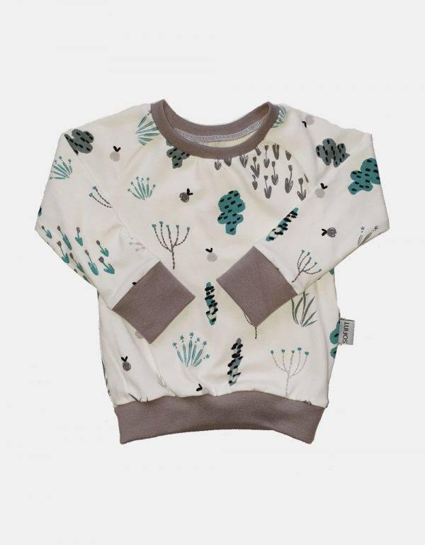 Langarm-Shirt weiß mit Sommerblumen