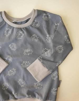 Langarm-Shirt blau mit Igel