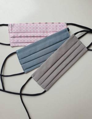 Waschbare Behelfsmaske aus Baumwolle
