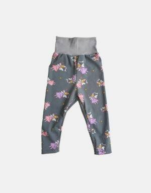 Leggings grau mit Fee / Prinzessin