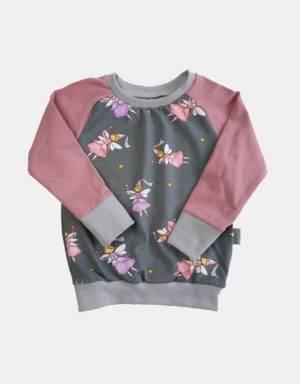 Langarm-Shirt grau mit Fee / Prinzessin
