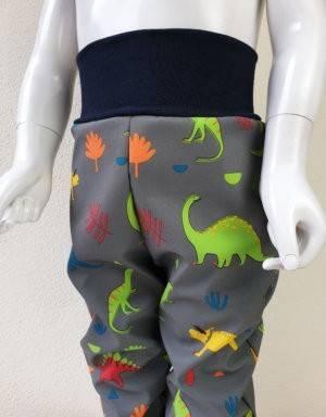 Softshellhose grau mit Dinosaurier