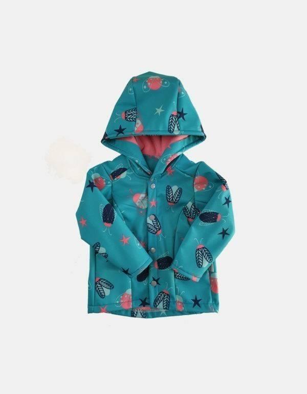 Softshell-Jacke blau mit Käfer