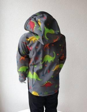 Softshell-Jacke grau mit Dinosaurier