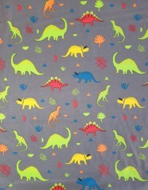 Softshell grau mit Dinosaurier