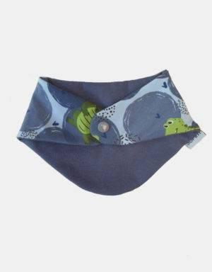 Dreieck-Tuch blau mit Krokodil