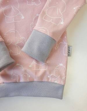 Langarm-Shirt hellrosa mit Elefant