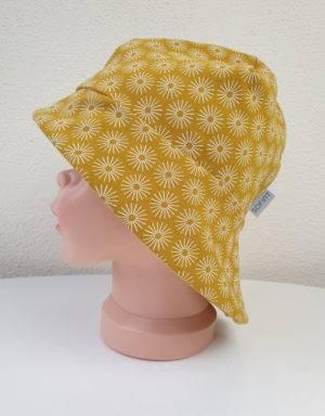 Sonnenhut senf-gelb mit Blumen