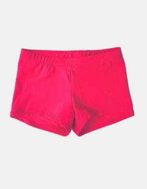 Kurze Sporthose, Turnhose neonrot-pink