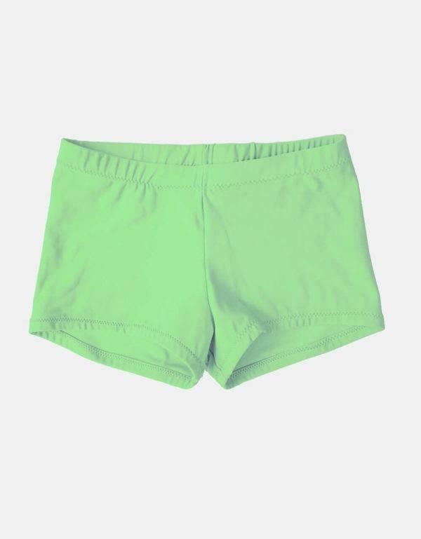 Kurze Sporthose, Turnhose neongrün