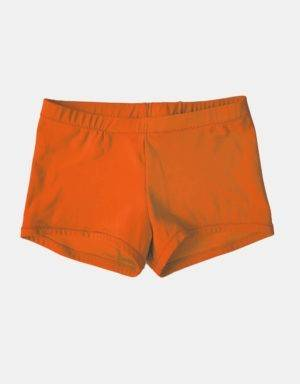 Kurze Sporthose, Turnhose orange