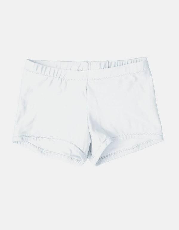 Kurze Sporthose, Turnhose weiß