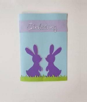 Einladungskarte mit Hasen