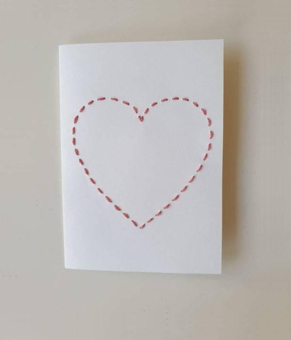 Geschenkkarte Herz aus Garn