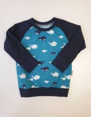 Langarm-Shirt petrol mit Wal
