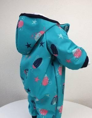 Softshell-Anzug blau mit Käfer