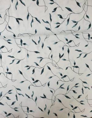 Jersey weiß mit grünen Blättern