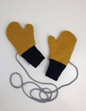 Walk-Handschuhe senf-gelb