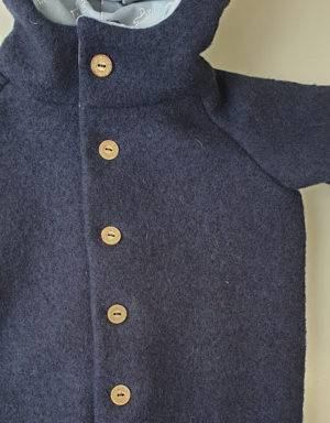 Walk-Anzug dunkelblau, blau mit Igel