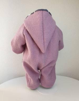 Walk-Anzug rosa, grau mit Eisbär