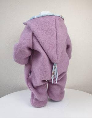 Walk-Anzug rosa, hellblau mit Känguru
