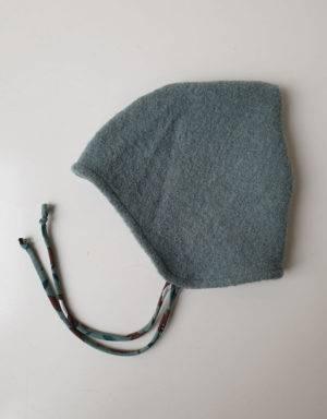 Walkmütze mintgrün / grün mit Fuchs, Gr. 44/46