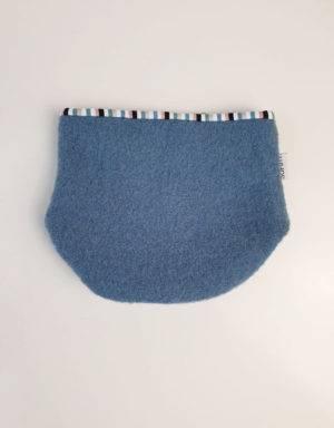 Halssocke aus Walk, blau