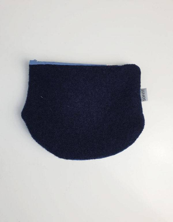 Halssocke aus Walk, dunkelblau