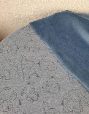 Happy-Fleece blau mit Elefant