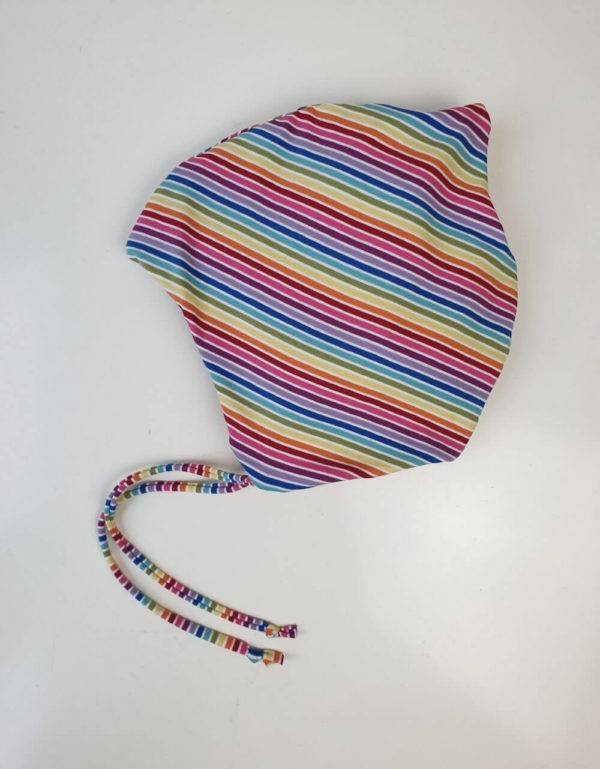 Kindermütze Regenbogen-Streifen