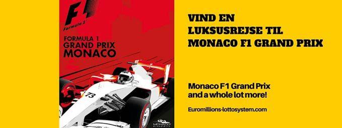 Vind en luksusrejse for 2 til F1 Grand Prix i Monaco