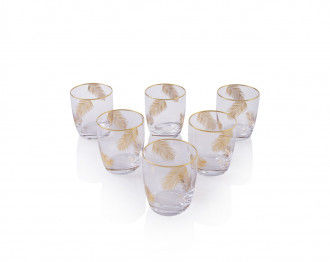 PALMETTO DRINKING GLASS SET OF 6