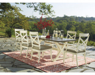 PRESTON DINING TABLE SET 6 CHAIRS