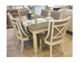 Bolanburg Dining Table 6 Chairs Back Upholstred