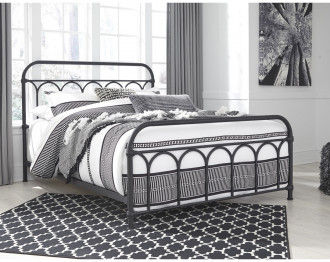 NASHBURG BED 160*200 CM - BLACK
