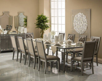 CHESTERNOLA DINING TABLE SET 10 CHAIRS