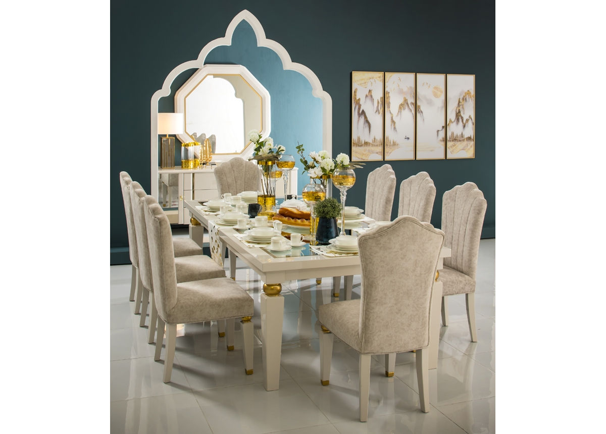 Akrisi Dining Table 8 Chairs