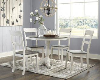 NELLING DINING TABLE SET 4 CHAIRS