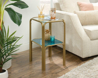 CORAL END TABLE