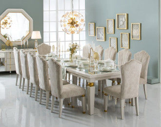 AKRISI DINING TABLE 12 CHAIRS