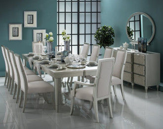 ARCVELOUR DINING TABLE SET 10 CHAIRS