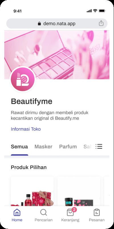 Toko kecantikan domain https://beautify.me