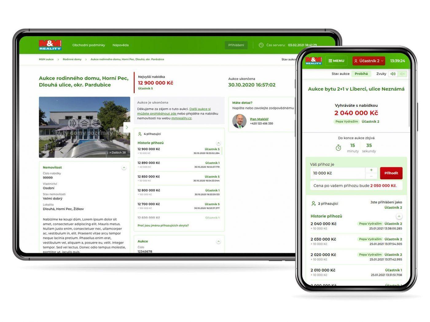Aukce - nástroj pro obchodníky s nemovitostmi