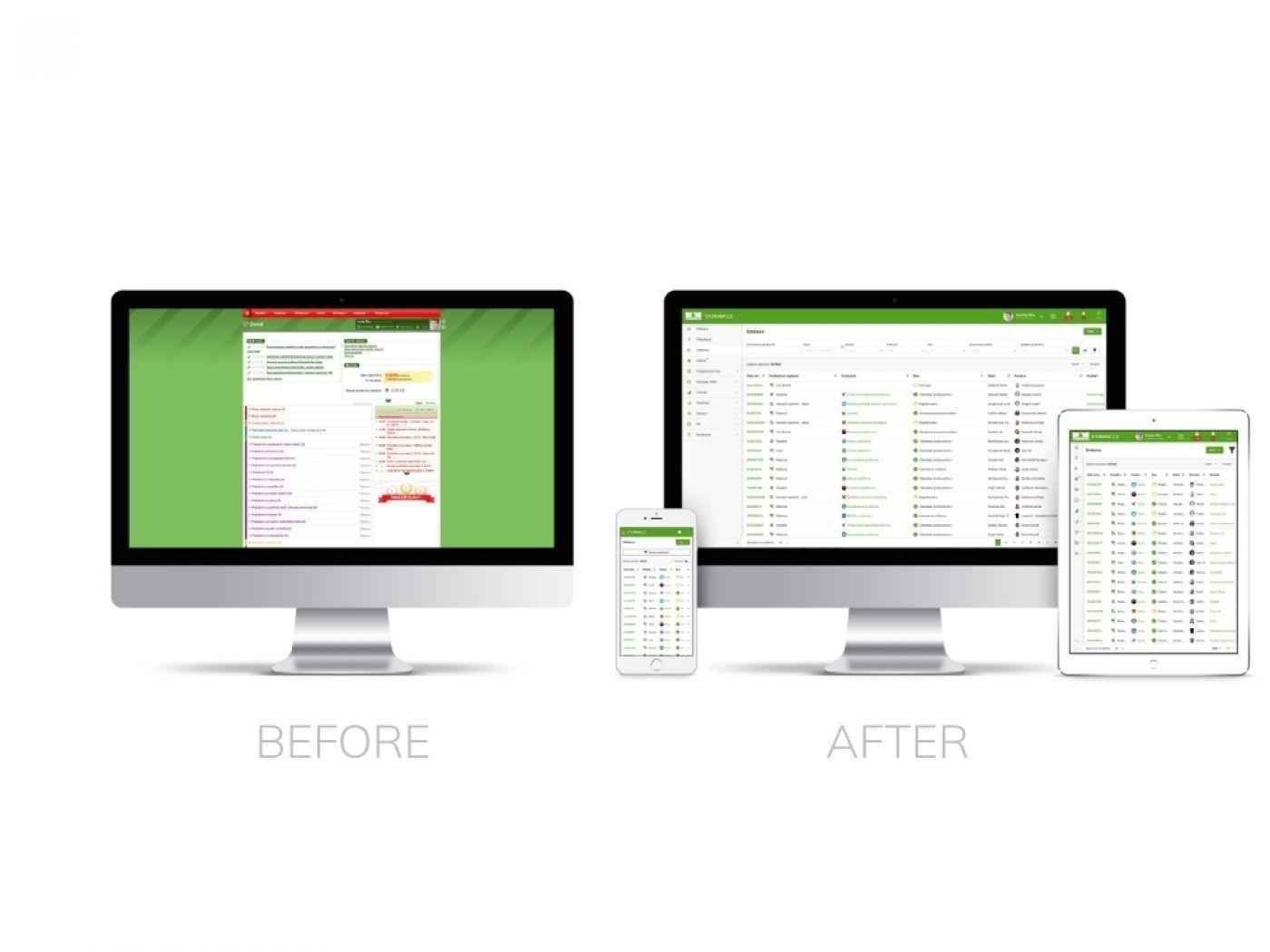 Modernizace uživatelského rozhraní informačního systému